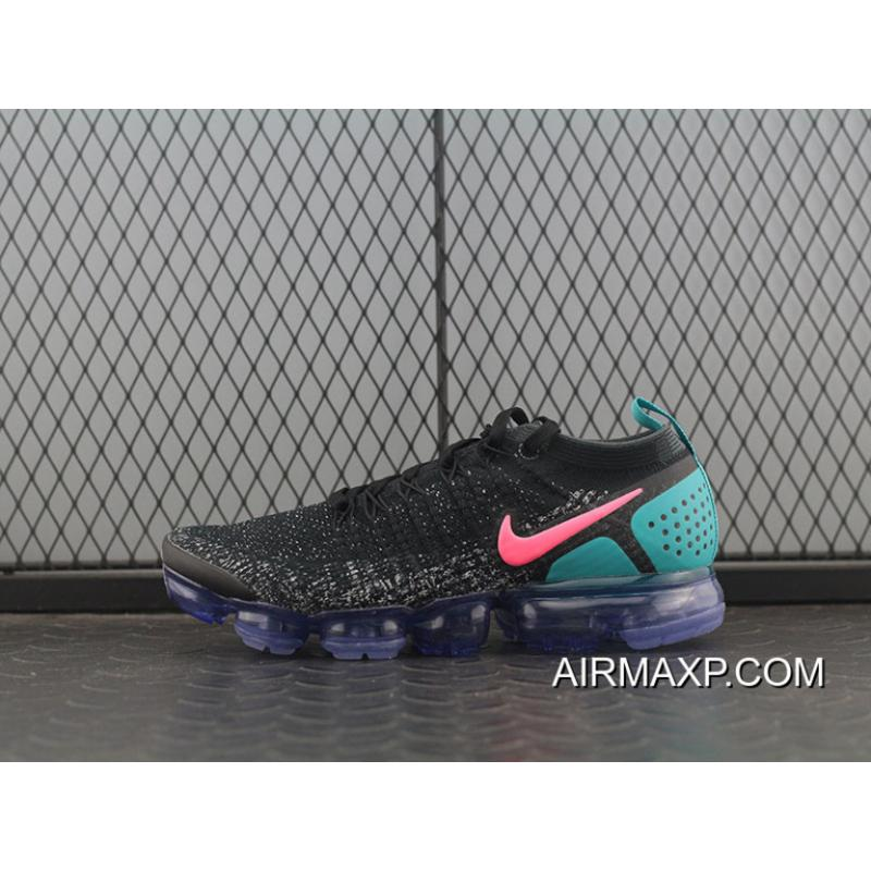 superior quality 37be2 de0b2 New Release Pure Original Nike Air VaporMax 2.0 Black Blue White Pink All  Black Zoom Air Running Shoes 2 942842-003