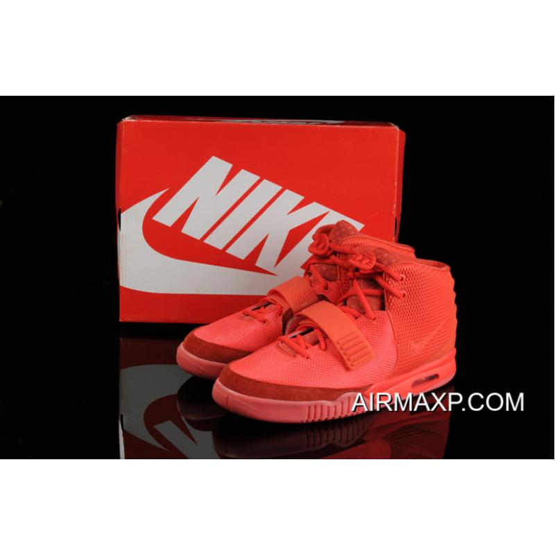 Women Men For Sale Glow In The Dark Nike Air Yeezy 2  Red October ... 9853b9e271