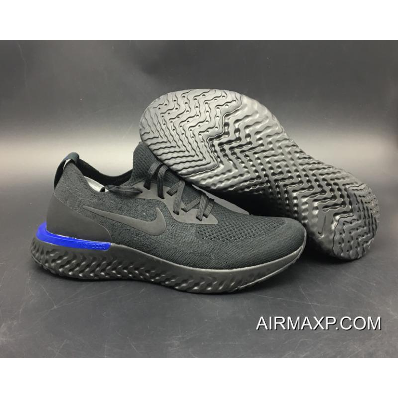 b98ce6425d90 ... australia women men nike epic react flyknit triple black black racer  blue ef843 bbd88