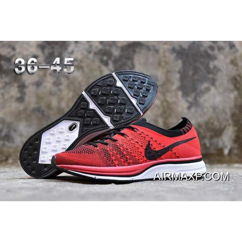 81498cbb91a2 Women Men Top Deals Nike Flyknit Racer University Red White-Black ...