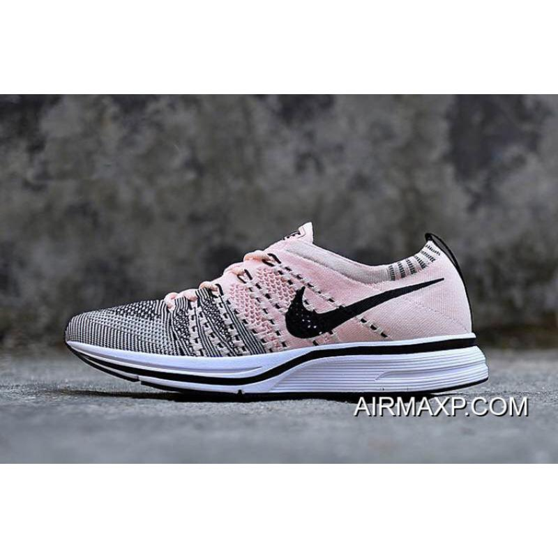 b1aba9d63a997 Women Men Latest Nike Flyknit Trainer Sunset Tint And Black-White ...