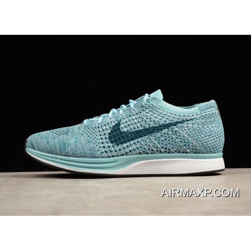 timeless design cc399 585a2 For Sale Nike Flyknit Racer White Legion Blue-Mica Blue ...