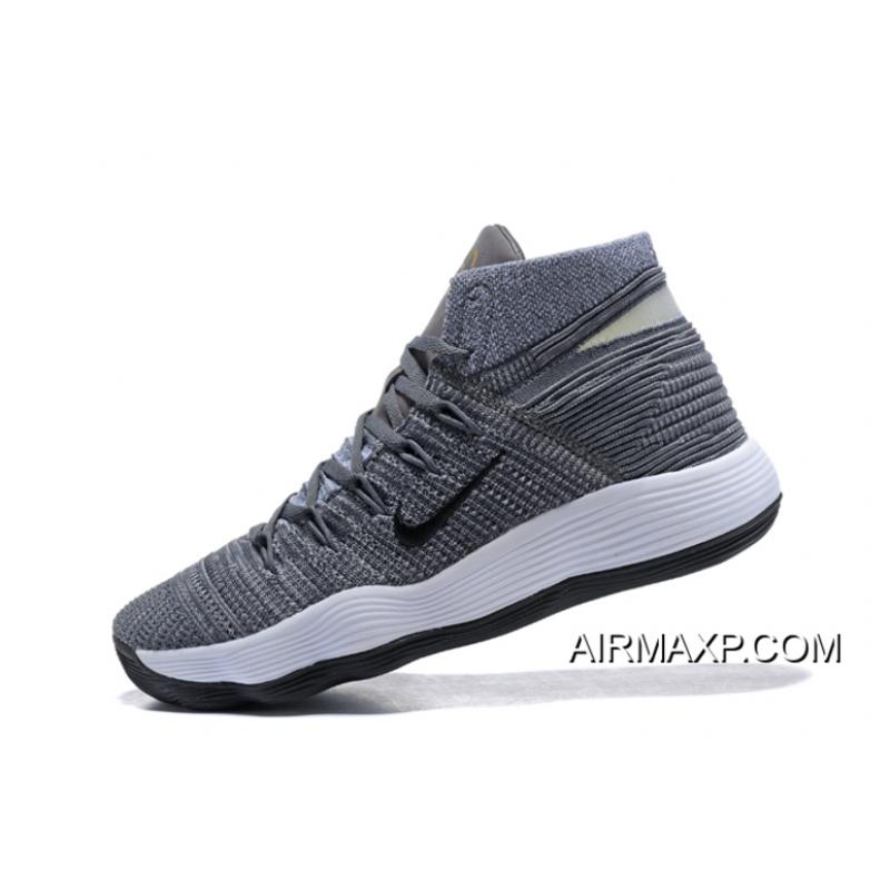1d58f88018df ... Outlet Nike Hyperdunk 2017 Flyknit Cool Grey And Black