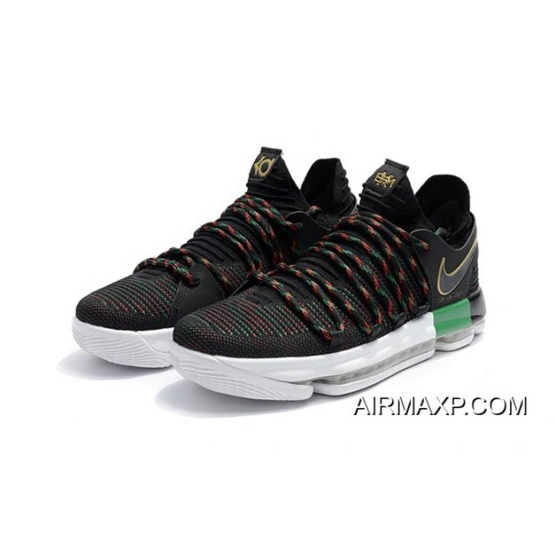 93309fdc8e16 ... Nike KD 10  BHM  Black Multi-Color AA4197-003 Outlet ...