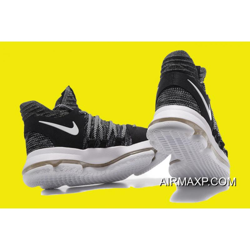 561d0c71a793 ... Nike KD 10  Oreo  Black White Men s Basketball Shoes Authentic ...
