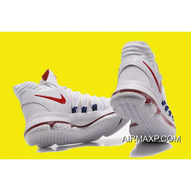 e31cbde38f37 ... Online Nike KD 10  USA  White University Red-Race Blue ...