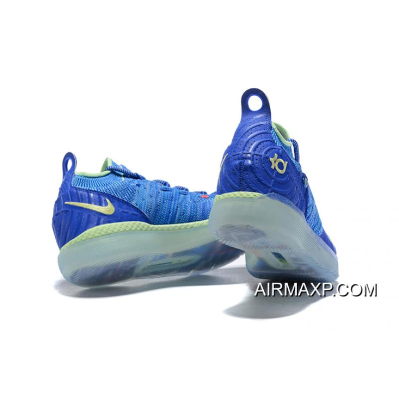 "a9caca42820 Kevin Durant s Nike KD 11 ""Paranoid"" Bright Blue Volt Discount ..."