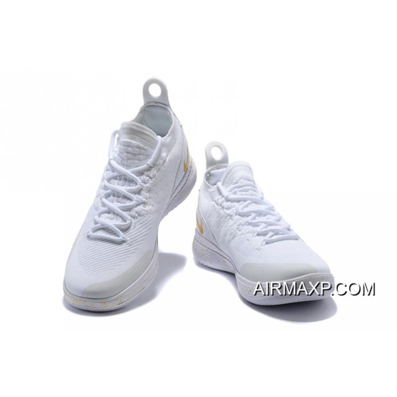 b251d82f102c4f ... Men s Nike KD 11 White Metallic Gold Basketball Shoes On Sale Outlet ...