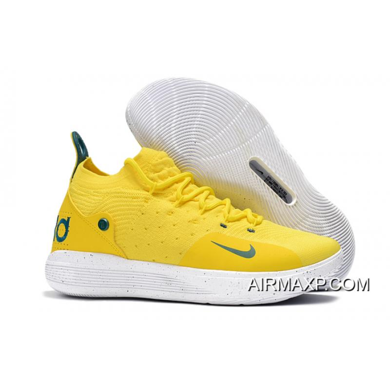 "6adc9d83f2df Best Nike KD 11 ""Storm"" PE Yellow Green ..."