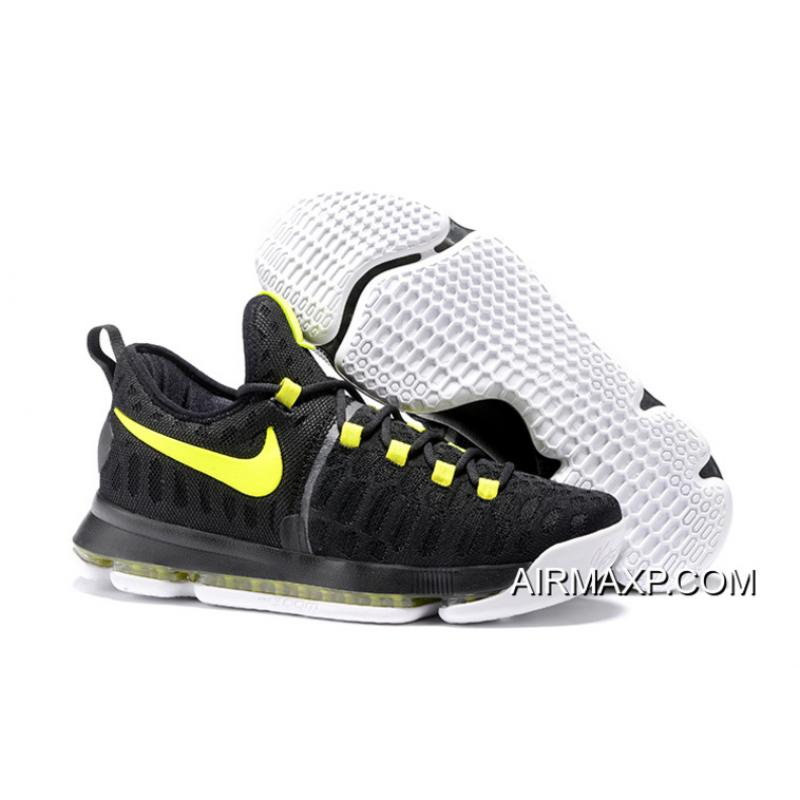 23259cdf2204 Authentic Nike KD 9 Black Yellow Men s Basketball Shoes ...