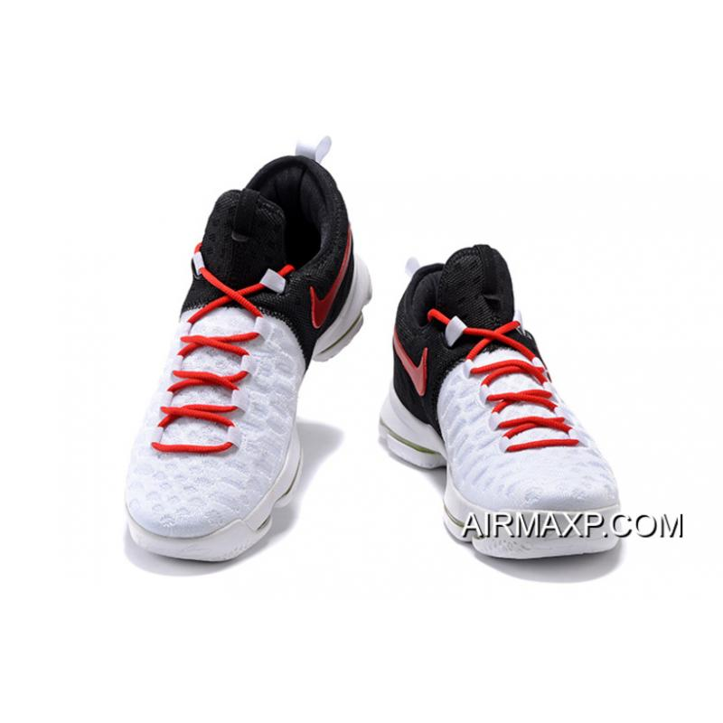 new product 9afd3 cece0 ... New Style Nike KD 9 White Black Red Men s Basketball Shoes ...