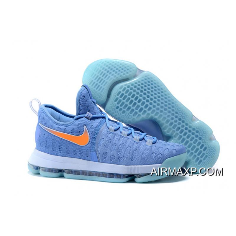 huge discount a790f ae36f Best Nike KD 9 University Blue And Orange Men's Basketball Shoes