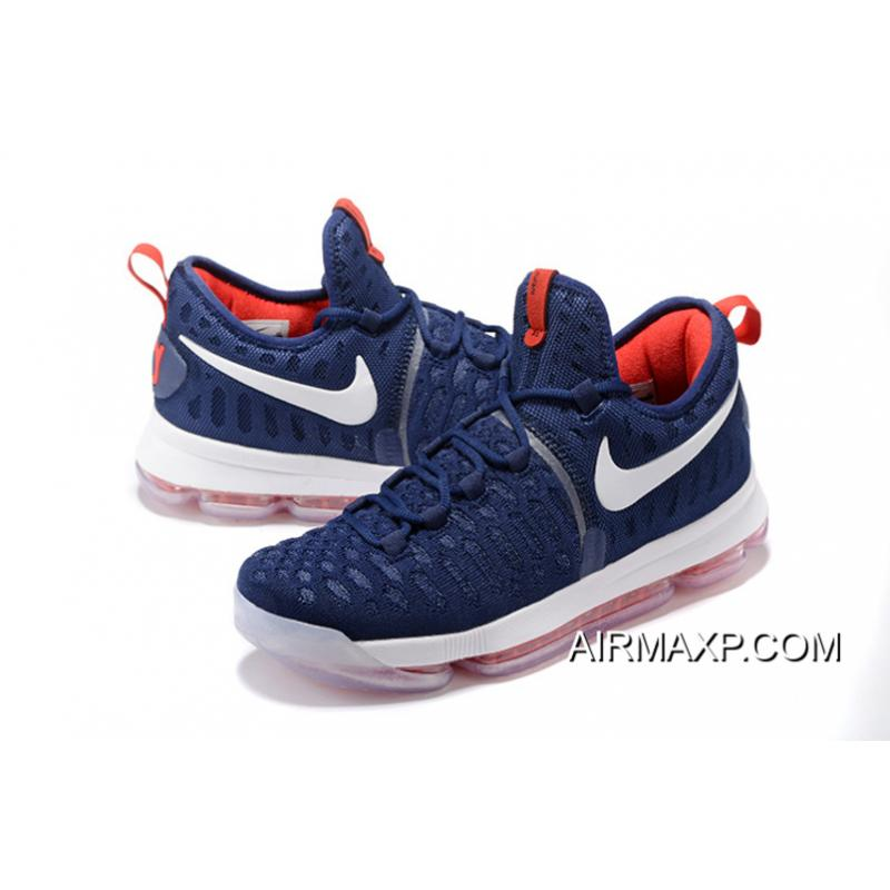 competitive price e3b15 4f606 ... Nike KD 9 PE Olympic USA Vs Nigeria Navy Blue And White-Red Best ...