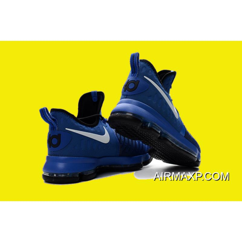 ca6603248eb6 New Year Deals Nike KD 9  On-Court  Game Royal Black-White 855908 ...