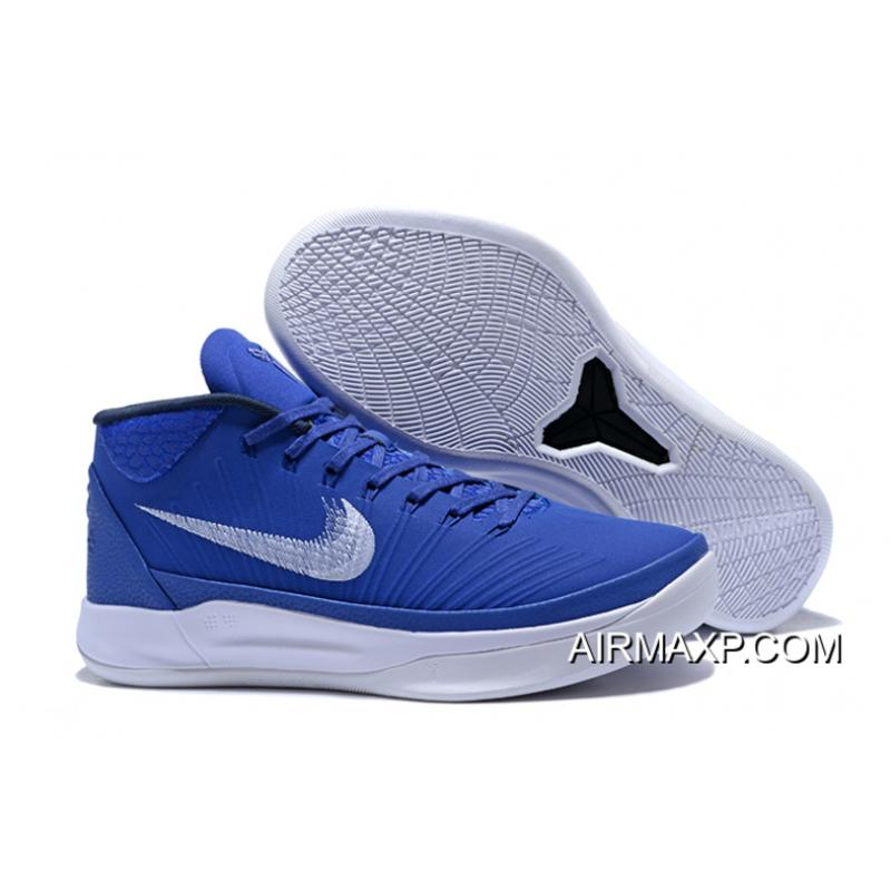 28c12c5405c5 Nike Kobe AD Mid TB White And Royal Blue Super Deals ...