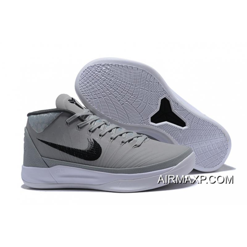 premium selection a3e09 f5c45 Discount Nike Kobe AD Mid TB Grey And White, Price: $80.98 ...