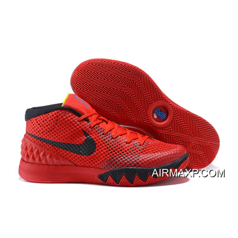 Nike Kyrie 1  Deceptive Red  Bright Crimson Black-University Red Outlet ... 1c4b3908c