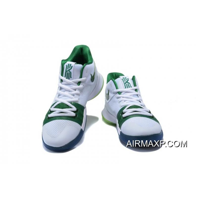 2a2cbbec9b1d ... Best Nike Kyrie 3  Boston Celtics  PE White Green ...