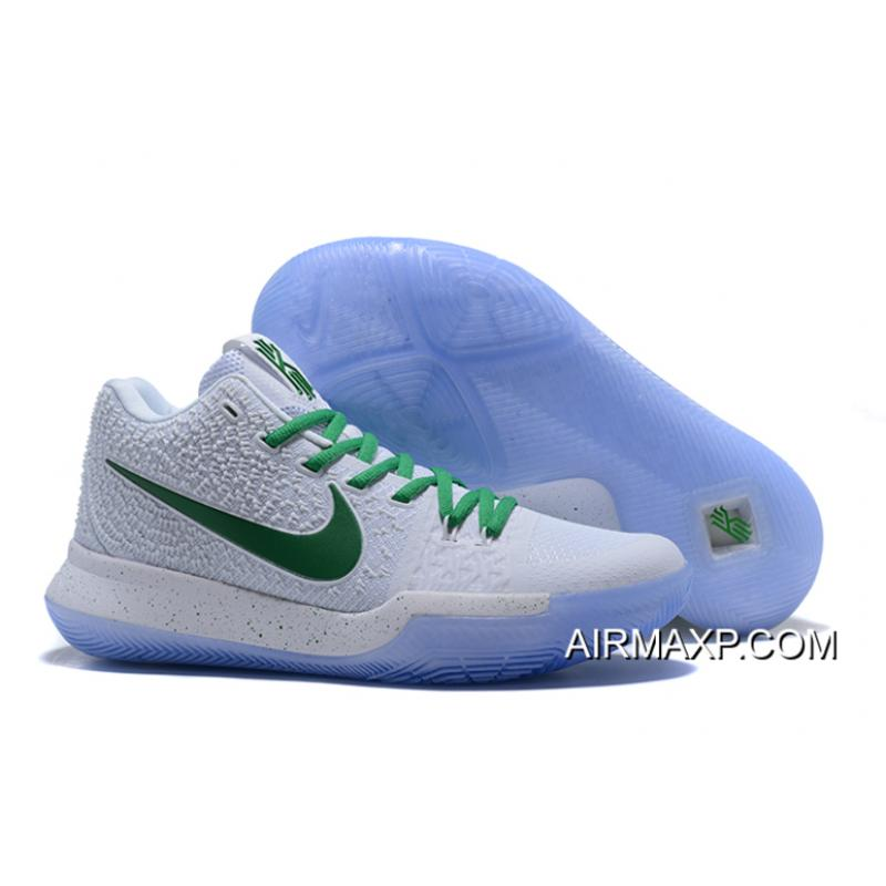 low priced a5fbe 1c409 For Sale Nike Kyrie 3 White And Green