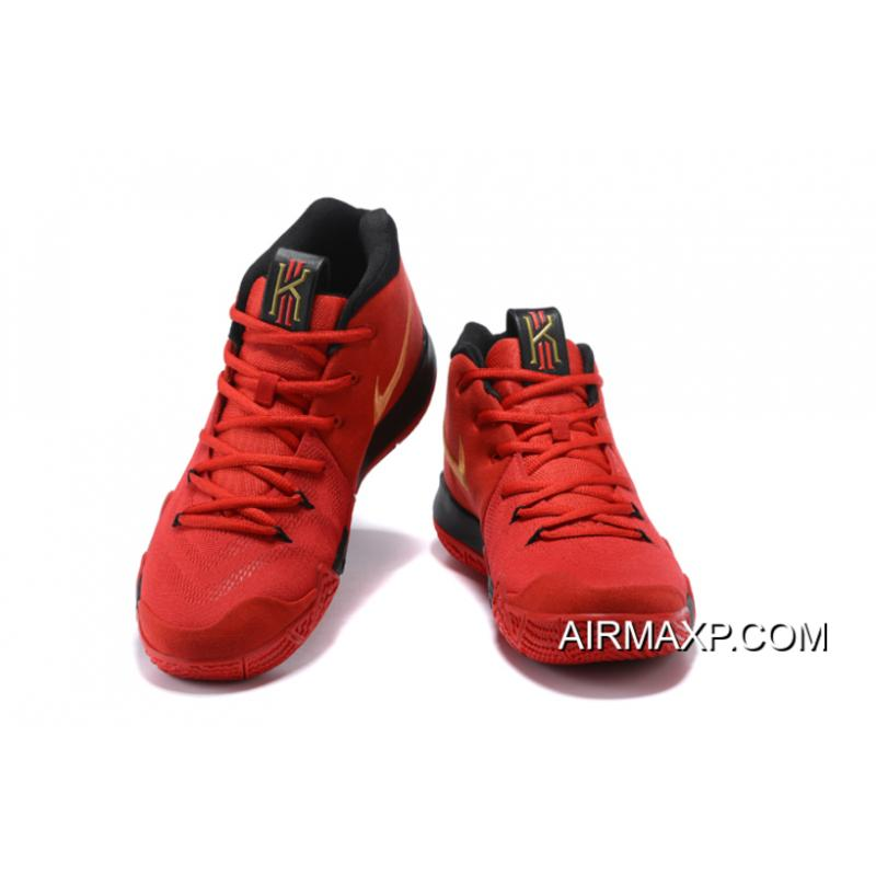 hot sale online bac0a 8faaf ... Discount Nike Kyrie 4 Red Black-Gold ...