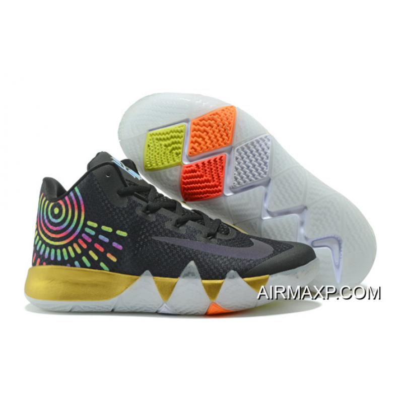 "super popular dd5fd 7d7c3 New Year Deals Nike Kyrie 4 ""Multicolor"" Black Gold White ..."