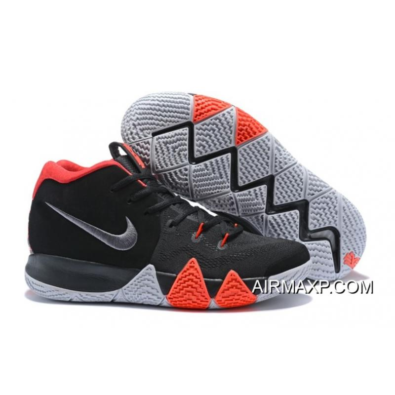 best quality 93baf b9e04 New Year Deals Nike Kyrie 4 Black-White Solar Red ...