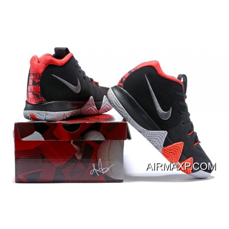 327650f009a6f5 ... New Year Deals Nike Kyrie 4 Black-White Solar Red ...
