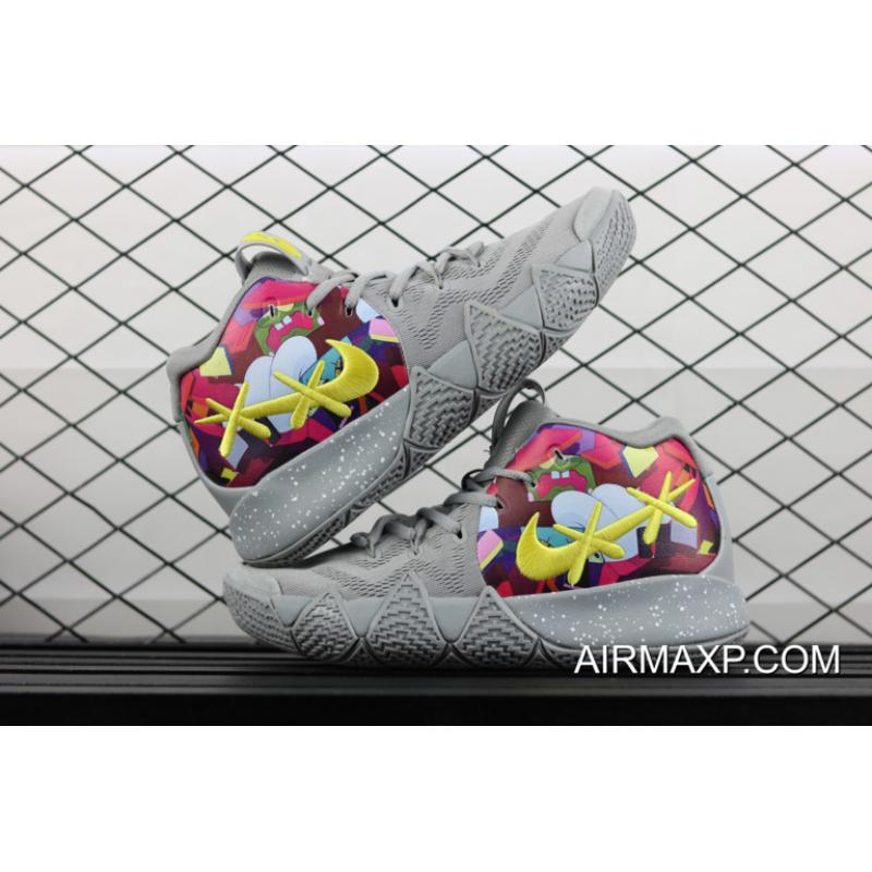 more photos 55813 53bd9 New Release Nike Kyrie 4 Cool Grey/Multi-Color