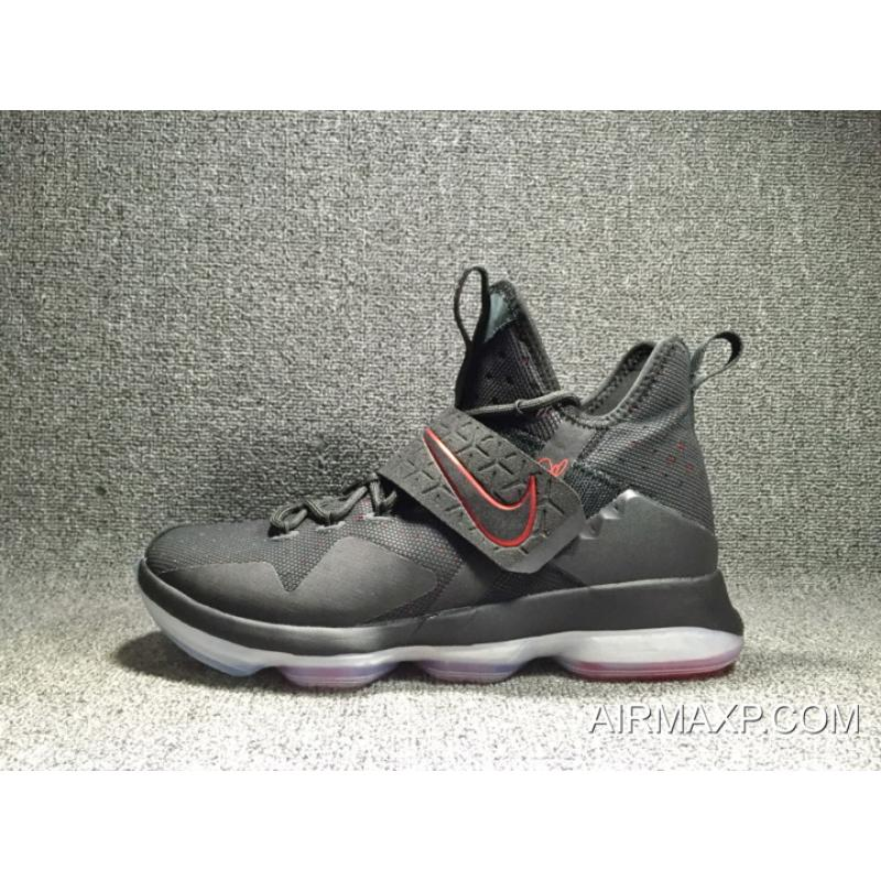 size 40 c0f2b 40669 New Year Deals Nike LeBron 14 'Bred' Black And Black-University Red