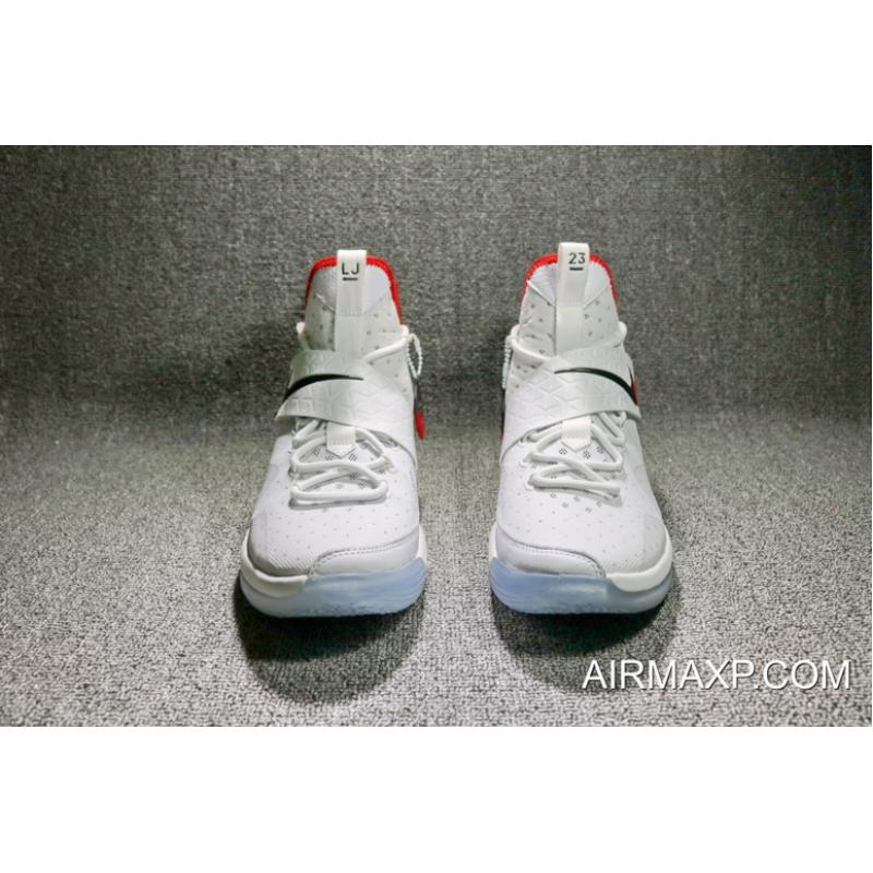 bd4a642a44a ... Nike LeBron 14  Flip The Switch  Black And White-University Red Latest  ...