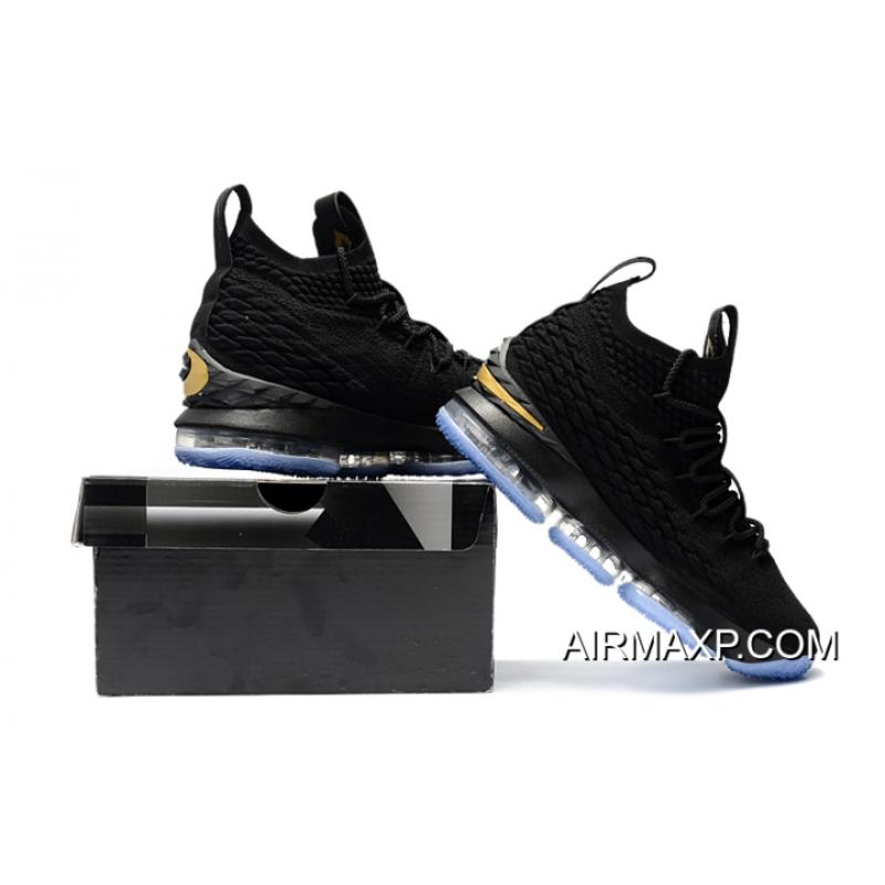 329f469447d For Sale Nike LeBron 15 Black Metallic Gold, Price: $90.74 ...