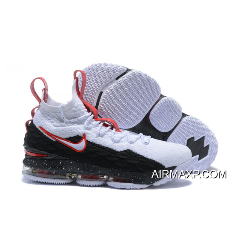 348f728eced0 Outlet Nike LeBron 15  Air Zoom Generation  White Black Red ...