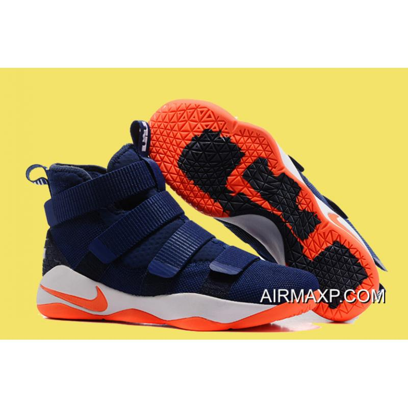 a24c5cd4e75f New Year Deals Nike LeBron Soldier 11 Deep Blue And Orange ...