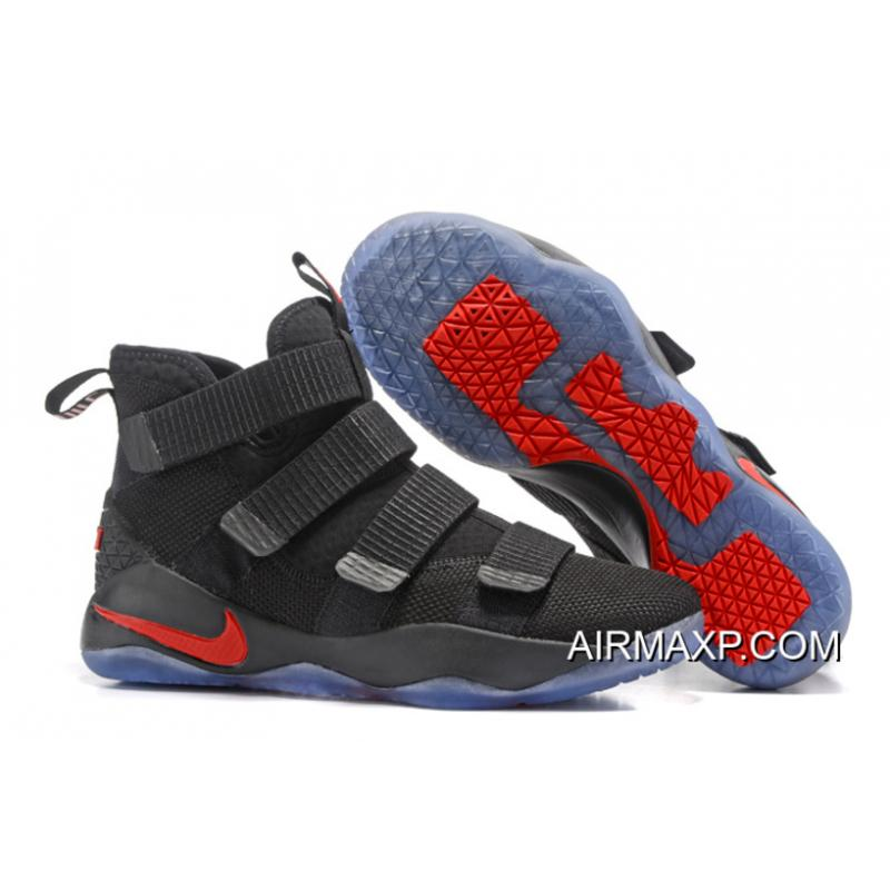 5c619a3a932 Nike LeBron Soldier 11 Black And Red Discount ...