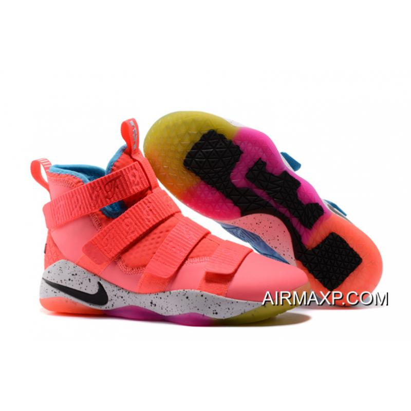buy popular 57c59 86730 Latest Nike LeBron Soldier 11 Markelle Fultz PE Pink Teal ...