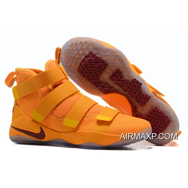 0e2aefb73046 Discount Nike LeBron Soldier 11 Yellow Wine Red ...