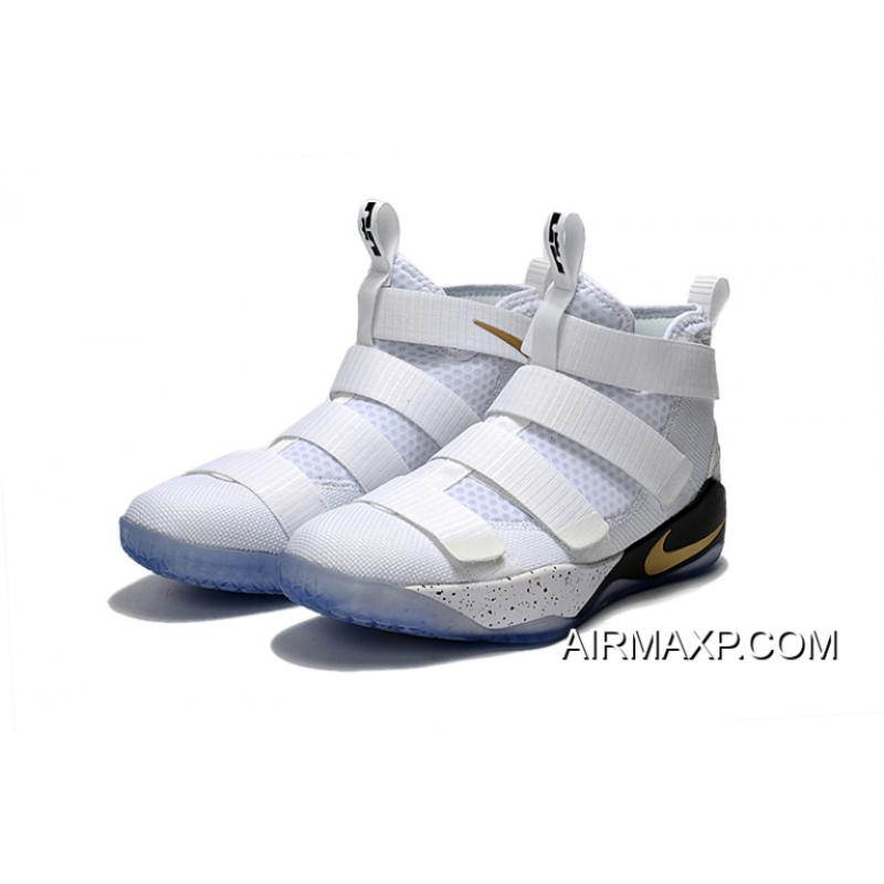 ff0d0454137 ... Where To Buy Nike LeBron Soldier 11  Court General  White And Metallic  Gold- ...