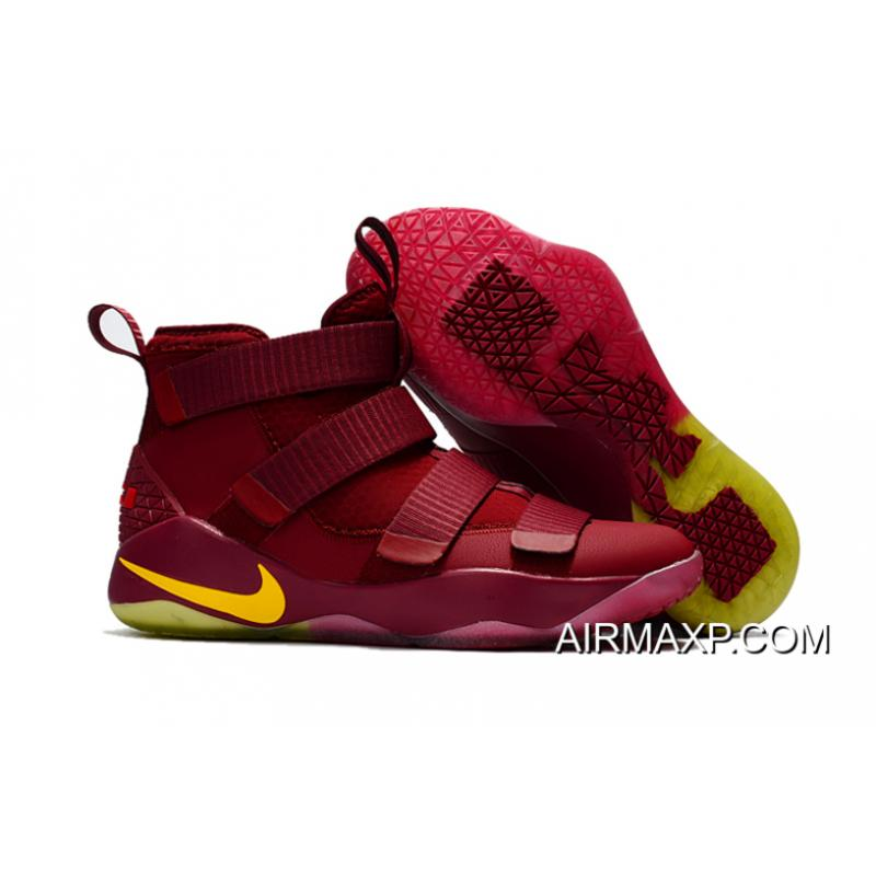 f6881cdd41df Nike LeBron Soldier 11 PE  Cavs  Wine Red Gold Buy Now ...
