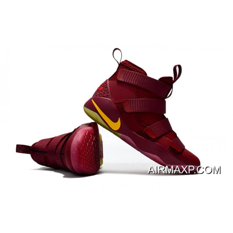 meet a2b8e 9aec3 ... Nike LeBron Soldier 11 PE  Cavs  Wine Red Gold Buy Now ...