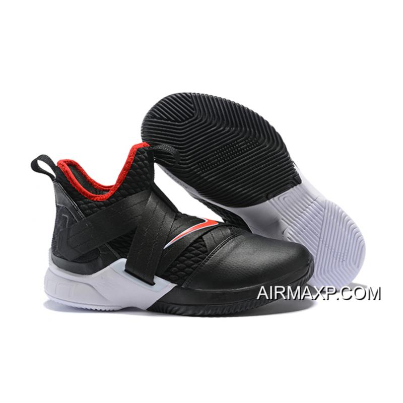 69841a90bf468 Nike LeBron Soldier 12  Bred  Black University Red-White Best ...