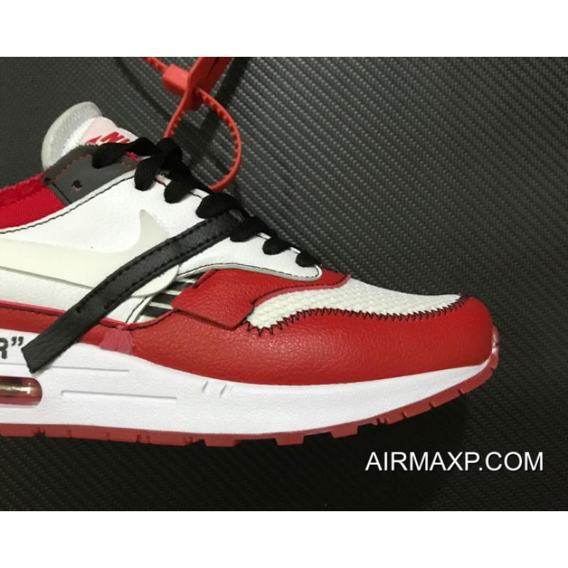 hot sale online 2119a e3976 For Sale Virgil Abloh X BespokeIND X Off-White X Nike Air Max 1s Red