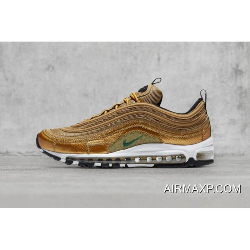 WomenMen Cristiano Ronaldo With Nike Air Max 97 CR7 Gold