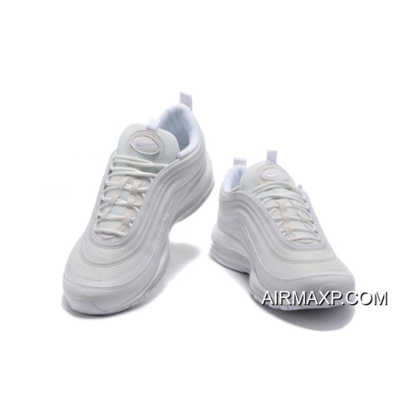 watch 43ca3 81718 ... For Sale Nike Air Max 97  Triple White  White And Wolf Grey-Black ...