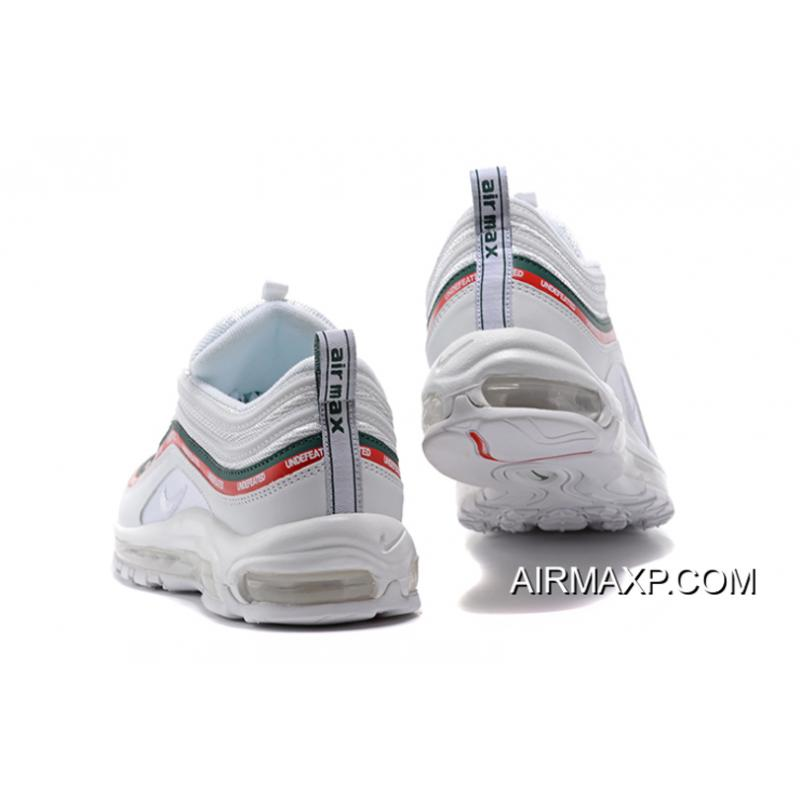 18b00e455e ... Women/Men For Sale Undefeated X Nike Air Max 97 OG Sail And White- ...