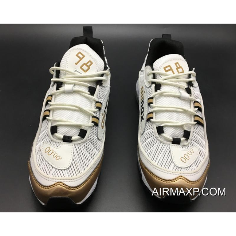 """766fa55891 Online Nike Air Max 98 OG """"UK"""" White Gold, Price: $87.20 - Discount ..."""