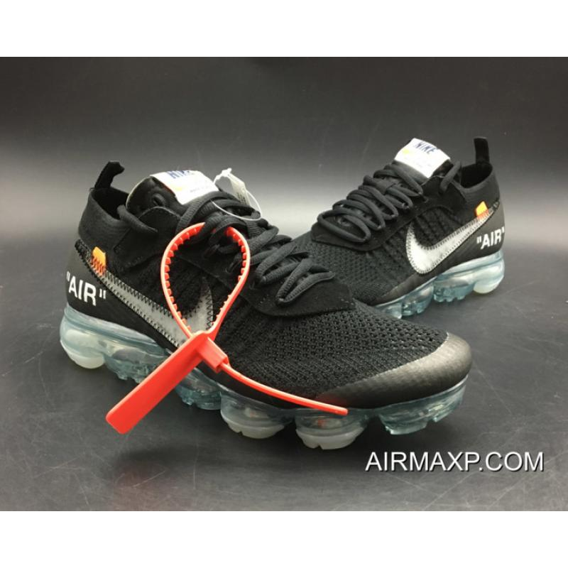 best loved 9f9ff 48caf Women/Men New Style Off-White X Nike Air VaporMax Black/Total Crimson-Clear