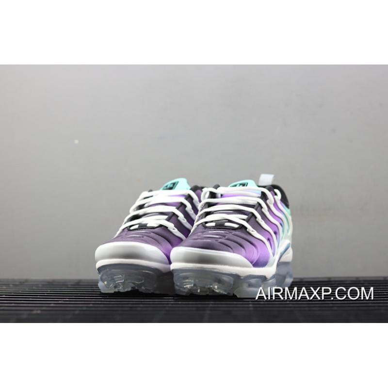 "outlet store 5d6dd c6536 Women Nike Air VaporMax Plus ""Grape"" White/Fierce Purple-Aurora Green-Black  New Style"