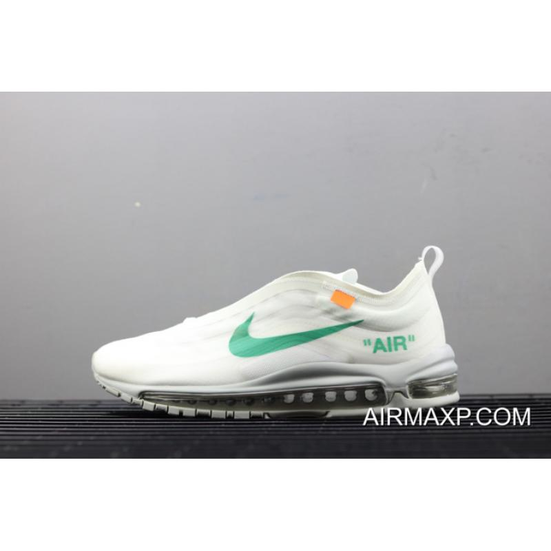 141da7edb8 Online Off-White X Nike Air Max 97 Off-White/Wolf Grey-White-Menta ...