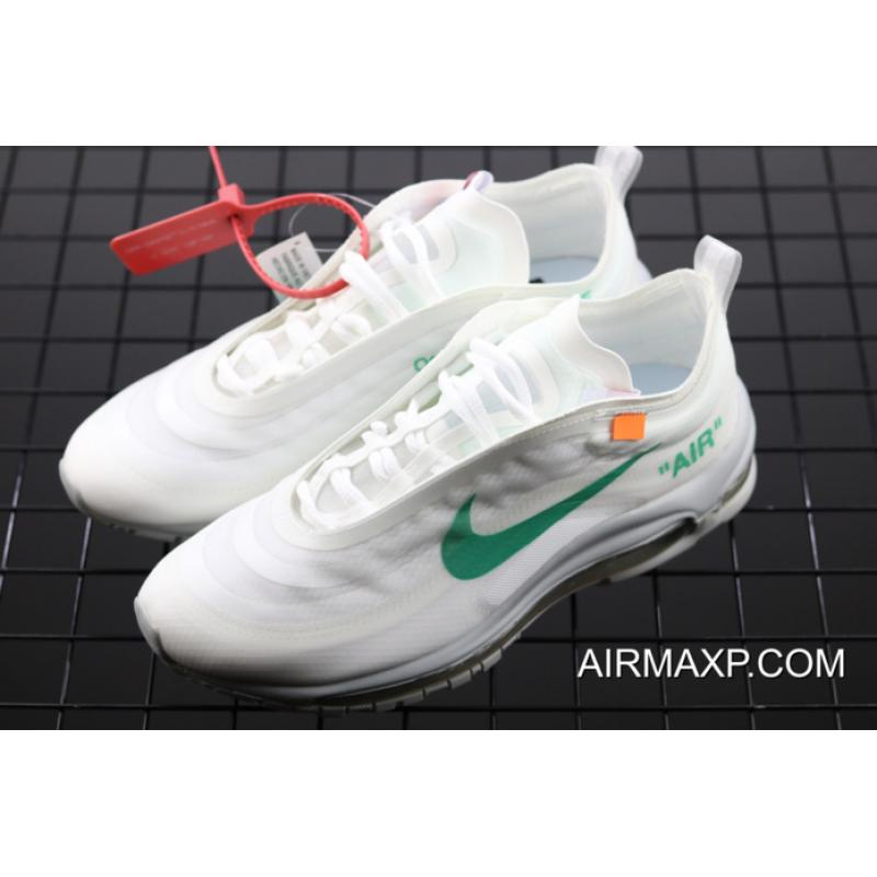 223709a1656cd Online Off-White X Nike Air Max 97 Off-White/Wolf Grey-White-Menta ...