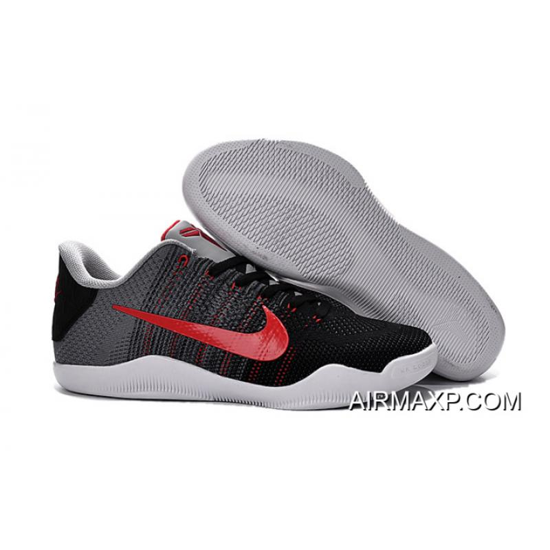 c16272822e6c Super Deals Nike Kobe 11  Tinker  Cool Grey And Black-University Red ...